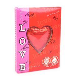 שוקולד לב גדול באריזת מתנה 45 גר' מגש
