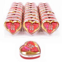 לבבות שוקולד 3 יח באריזת לב מהודרת 24 גר'