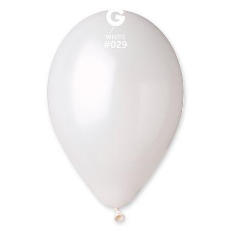 בלון G11 מטאלי - 29 לבן 100 יח