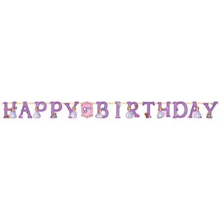 כרזת יום הולדת אותיות - H.B - סופיה ה-1