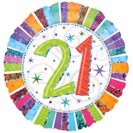 בלון מיילר 18 HB - יום הולדת 21 קורן