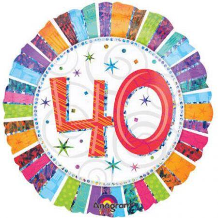 בלון מיילר 18 HB - יום הולדת 40 קורן