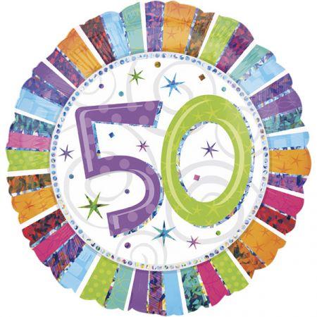 בלון מיילר 18 HB - יום הולדת 50 קורן