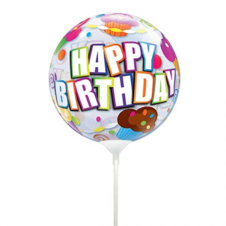 בלון על מקל Q סינגל בבל יום הולדת קאפקייקס