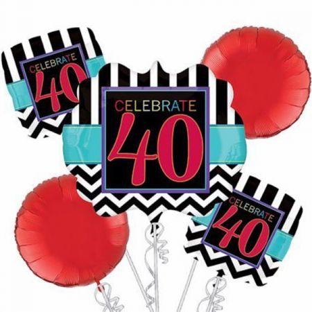 זר בלונים-יום הולדת חוגגים 40