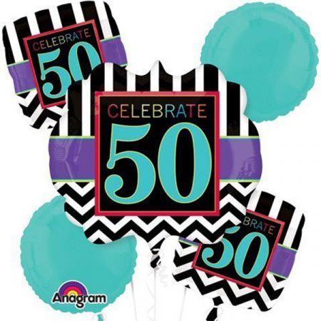 זר בלונים-יום הולדת חוגגים 50