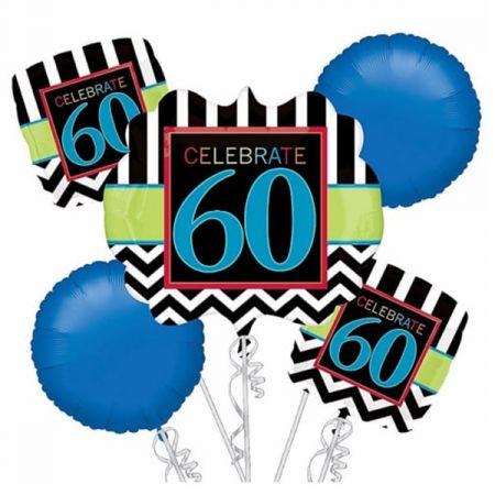זר בלונים-יום הולדת חוגגים 60