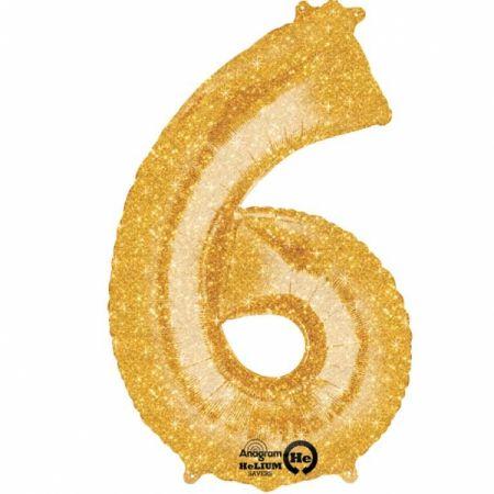 בלון מיילר 36- ספרה 6 זהב נוצץ
