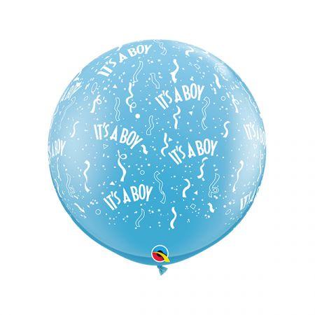 בלון Q3feet כחול ITS A BOY - יח 2 בשקית (מחיר ליח)