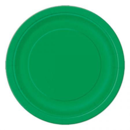 צלחות נייר 20 סמ עגולות - 8 יחידות - ירוק 31854