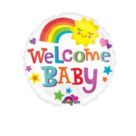 בלון על מקל 9- welcome baby קשת עם שמש