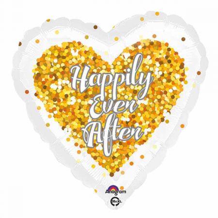בלון מיילר 18-קונפטי חגיגת חתונה צורת לב