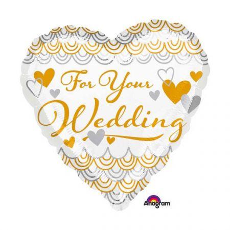 בלון מיילר 18 חתונה - לכבוד חתונתך לב
