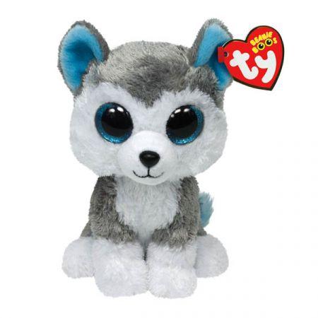 בובת TY עיניים גדולות (S) סלאש הכלב האפור