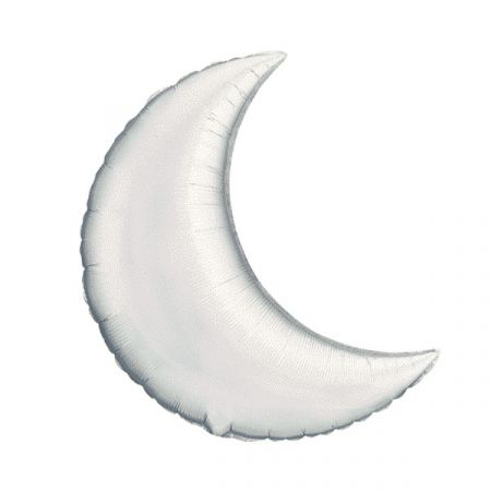 בלון מיילר Q35 בצורת חצי ירח כסף - 1 יח