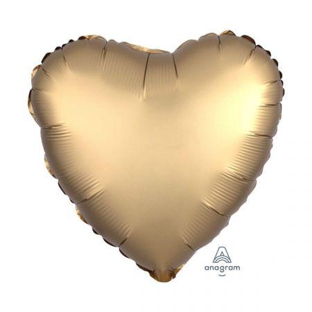 בלון מיילר 18- חלק לב זהב כרום אנגרם