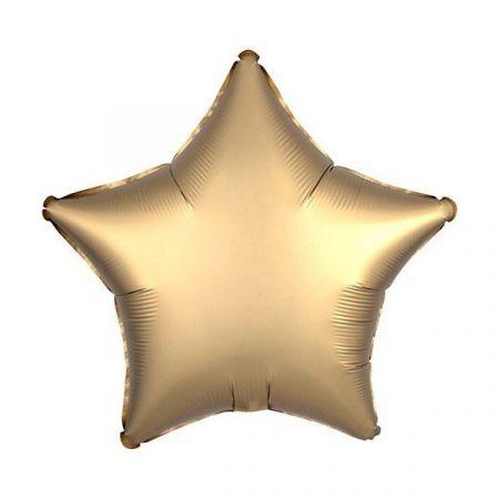 בלון מיילר 18-חלק כוכב זהב מט כרום אנגרם