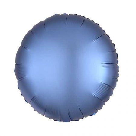 בלון מיילר 18- חלק עגול תכול כרום אנגרם