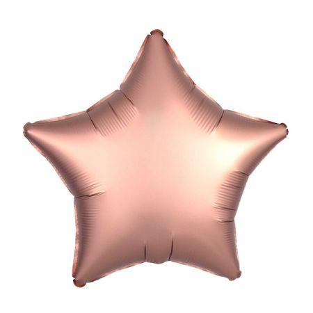 בלון מיילר 18- חלק כוכב ורוד נחושת כרום אנגרם