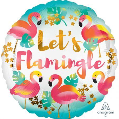 בלון מיילר 18 מסרים - lets flamingle פלמנגו