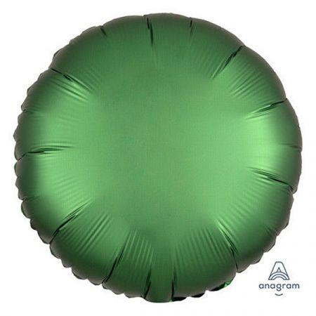 בלון מיילר 18- חלק עגול אמרלד ירוק כהה כרום אנגרם