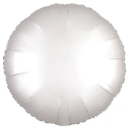 בלון מיילר 18- חלק עגול לבן כרום אנגרם