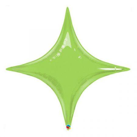 בלון מיילר Q40 בצורת כוכב 4 קוצים ליין גרין סטארפוניט - 1 יח