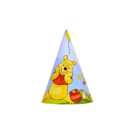 כובעים ליום הולדת 6 יח - פו הדב