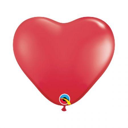 בלון Q6 לב אדום - 100 יח