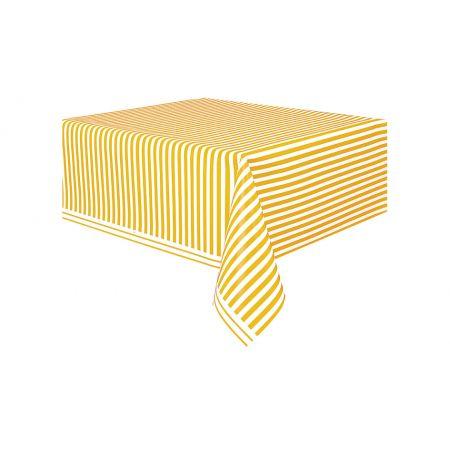 מפת שולחן - פסים צהובים 50303