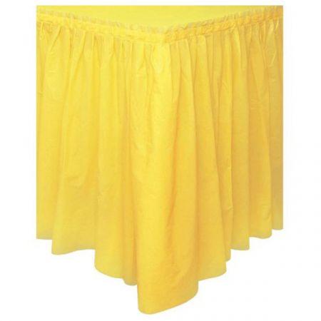 קישוט חצאית שולחן צהוב 50048