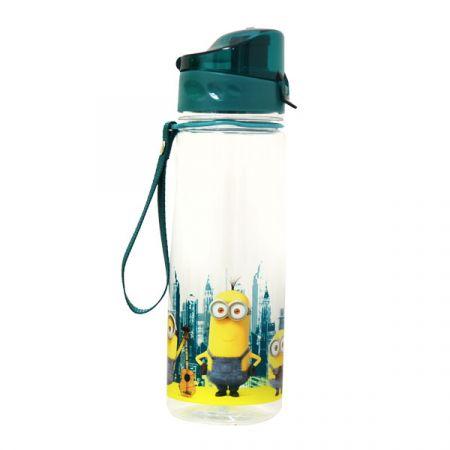 בקבוק שתייה דגם שקוף 700 מל- דגם מיניונים(1X72)