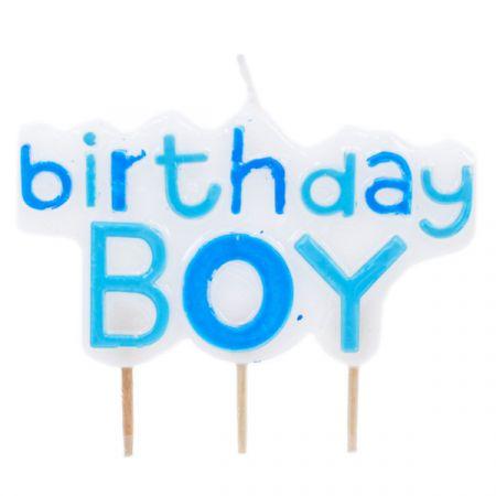 נרות יום הולדת עם נצנצים - בן(1X12)