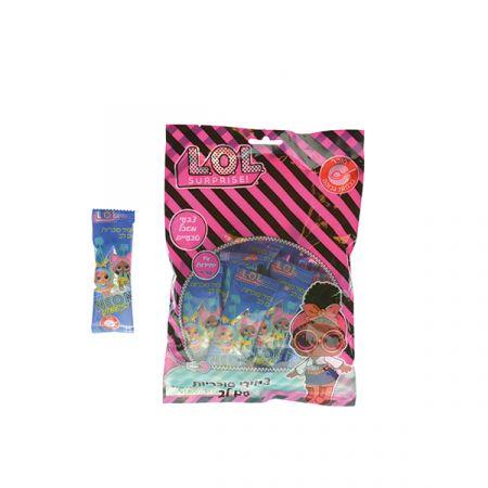 סוכריות סודה בצורת  צמיד עם שעון 11.4 גר(14 יח) - LOL