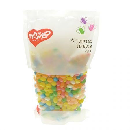 סוכריות ג'לי בינס 1 ק''ג - צבעי הקשת