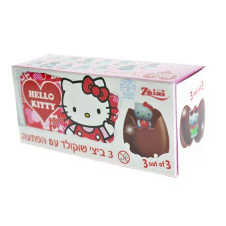 שלישיית ביצי שוקולד - (חלב ישראל) הלו קיטי (1X24)