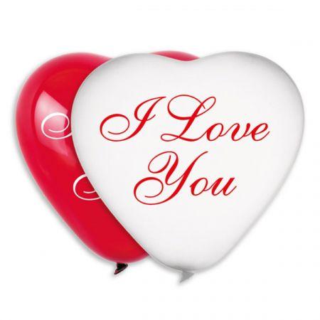 בלון G12- לב מודפס I love you -יח 100