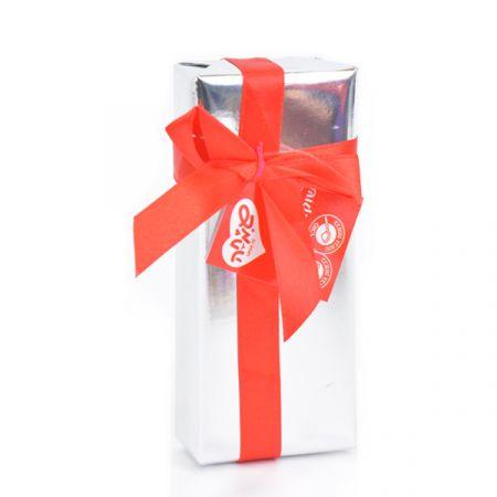 פרליני שוקולד באריזת מתנה כסף 48 גר'