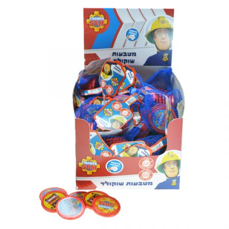 מטבעות שוקולד ברשת 31 גר' סמי הכבאי דיספליי
