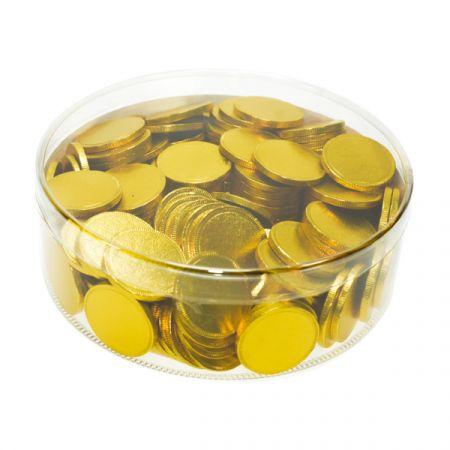 מטבעות שוקולד 38 ממ 936 גר' בצילינדר זהב