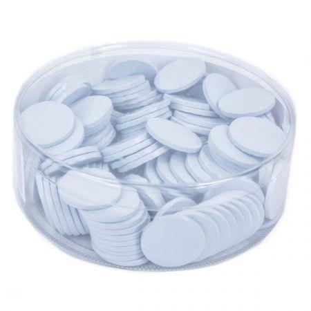 מטבעות שוקולד 38 ממ 936 גר' בצילינדר לבן