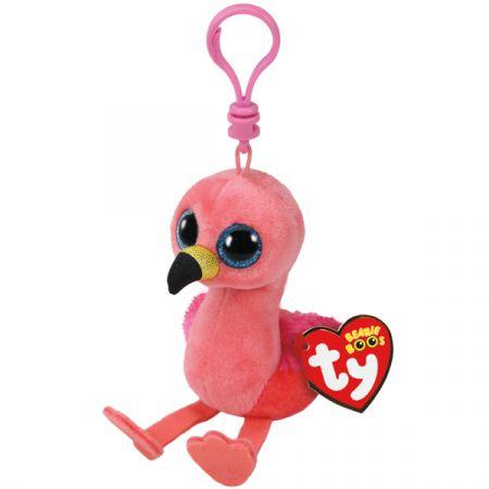 בובת TY מחזיק מפתחותפלמינגו ורוד