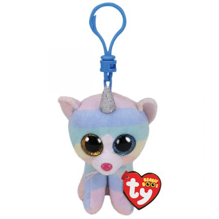 בובת TY מחזיק מפתחות הת'ר חתול עם קרן