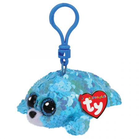 בובת TY מחזיק מפתחות- עיניים גדולות פאייטים- ווייבס כלב ים