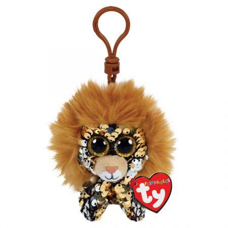 בובת TY מחזיק מפתחות- עיניים גדולות פאייטים- ריגל האריה