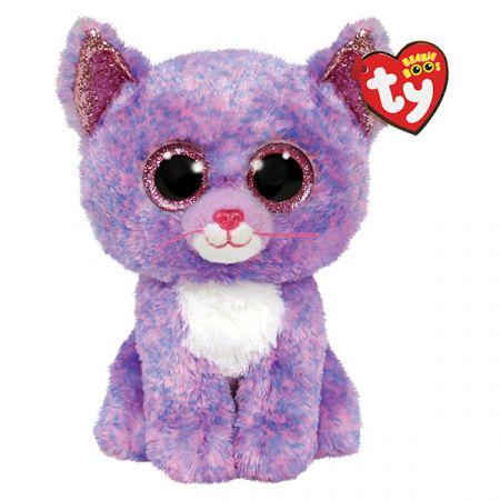 בובת TY עיניים גדולות (S) קסידי - חתולה סגולה