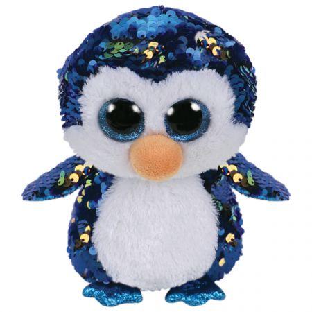 בובת TY- עיניים גדולות פאייטים (M)- פייטון הפינגווין