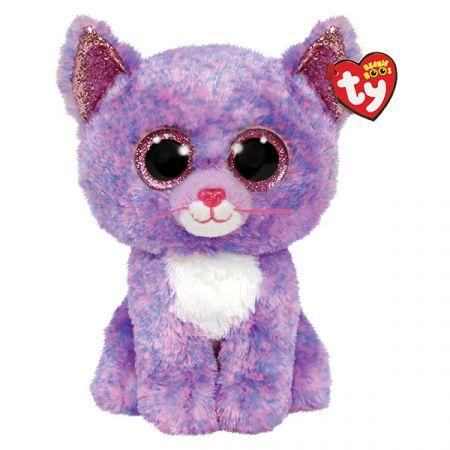 בובת TY עיניים גדולות (M) קאסידי - חתולה סגולה