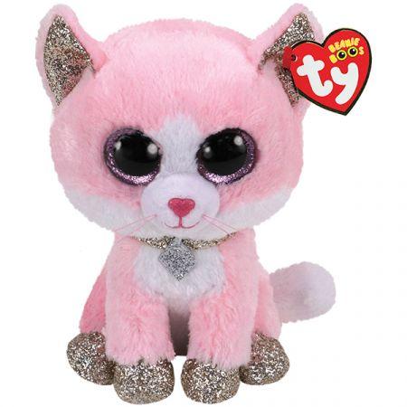 בובת TY עיניים גדולות (M) פיונה - חתולה ורודה