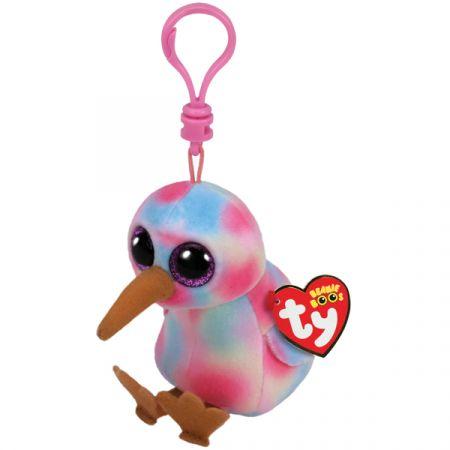 בובת TY מחזיק מפתחות עיניים גדולות קיווי הציפור
